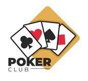 Poker club gambling and casino games play cards stock illustration