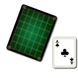 Poker Clubs Card. That designed green in color Royalty Free Stock Photo