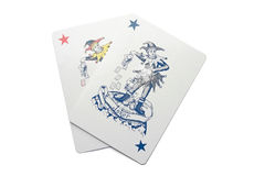 Poker combination. With two jokers Stock Photo