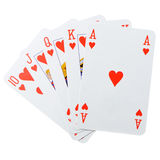 Poker combination isolated Royalty Free Stock Images