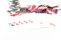 Poker combinations Stock Image