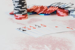Poker combinations Royalty Free Stock Image