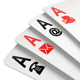 Poker of contacts symbols Royalty Free Stock Photography