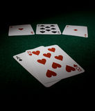 Poker dead man's hand. Dead mans hand in poker similar to the legend of Wild Bill Hickock at the time of his death Royalty Free Stock Image