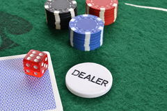 Poker dealer Stock Image