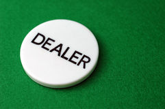 Poker: Dealer Chip Stock Photo