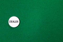 Poker dealer chip Stock Image