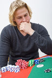 Poker decision Stock Photos