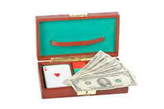 Poker Deck And Chips Stock Images