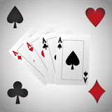 Poker design, cards and game concept ,, casino games. Poker concept with icon design, vector illustration 10 eps graphic Stock Images
