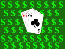 Poker. Design cards for hazard playing on white background Royalty Free Stock Photos