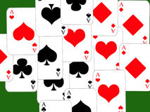 Poker. Design cards for hazard playing on white background Stock Photography