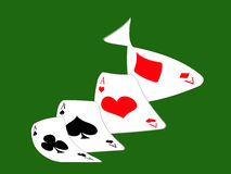 Poker. Design cards for hazard playing on white background Royalty Free Stock Images