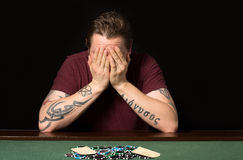 Poker desperate Stock Photography