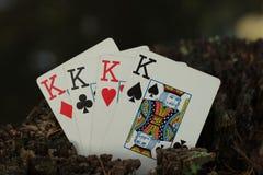 Poker di re fotografia stock