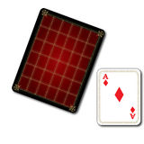 Poker Diamond Card. That designed red in color Royalty Free Stock Image
