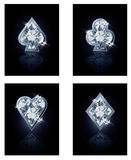 Poker diamonds card Royalty Free Stock Photos