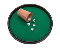 Poker with dice and clipping path Stock Photos