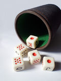 Poker dices Royalty Free Stock Photo