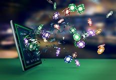 Poker direktanslutet Arkivfoto