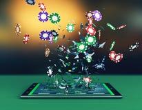 Poker direktanslutet Royaltyfria Foton