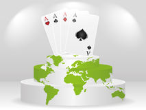 Poker element - aces. Poker element - full of aces on podium Stock Images