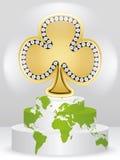 Poker element - clover Stock Photos