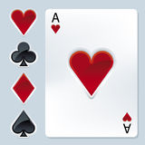 Poker elements (vector) Stock Images