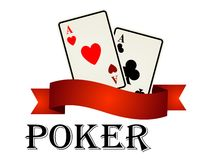 Poker emblem with cards Stock Image