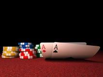 poker för överdängarechippar Royaltyfri Foto