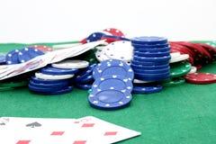 poker för 02 chiper Royaltyfri Fotografi
