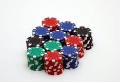 poker för 2 chiper arkivfoton