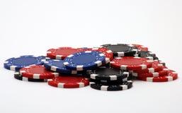 poker för 3 chiper Arkivbilder
