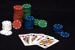 poker för fyra kind Arkivfoton
