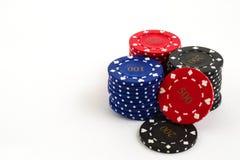 poker för mkiien för dof f2 för chiper för canonen för 100mm bakgrund 5d 8 sköt liten white Arkivfoton