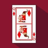 Poker för ` s för nytt år för kort royaltyfri illustrationer