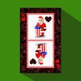 Poker för ` s för nytt år för kort illustration royaltyfri illustrationer