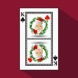 Poker för ` s för nytt år för kort illustration royaltyfri illustrationer