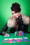Poker face Royalty Free Stock Photos