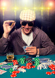 Poker face Royalty Free Stock Photos