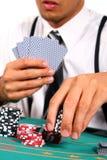poker faceta Zdjęcia Stock