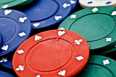 Poker Fiche. Colorfull poker fiche are isolated on a white background Stock Image