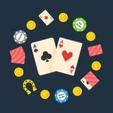 Poker flat logo Royalty Free Stock Photography