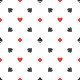 Poker flat simple pattern Stock Images