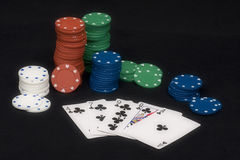 Poker Flush Royalty Free Stock Image