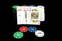 Poker Flush royalty free stock photography