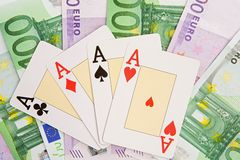 Poker of four aces Royalty Free Stock Images
