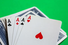 Poker. Four aces of a kind with background Stock Photo