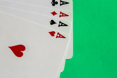 Poker. Four aces of a kind with background Stock Photography