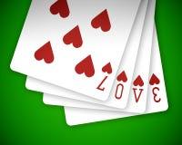 poker för 01 förälskelse Arkivbild